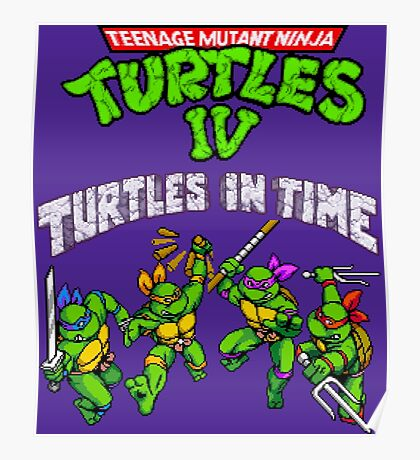 TMNT Turtles In Time (SNES) Poster
