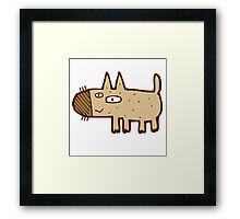 Little funny cartoon dog Framed Print