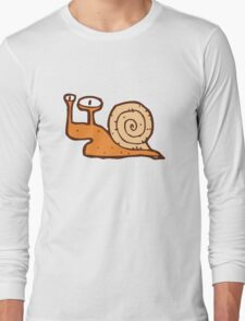 Cute funny cartoon snail Long Sleeve T-Shirt