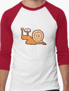 Cute funny cartoon snail Men's Baseball ¾ T-Shirt