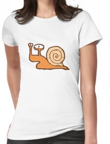 Cute funny cartoon snail Womens Fitted T-Shirt