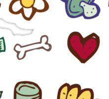 Miscellaneous drawn design elements Sticker