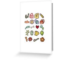 Miscellaneous drawn design elements Greeting Card