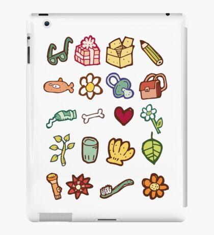 Miscellaneous drawn design elements iPad Case/Skin