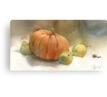 Stil-life with pumpkin Canvas Print