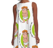 Arrogant Diaper Baby Things He Outgrows Crib A-Line Dress