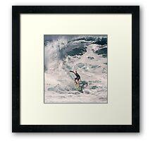 John John Florence 2006: Surfing The Pipeline at 13. Framed Print