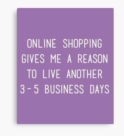 Online Shopping Canvas Print