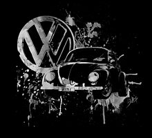 Volkswagen Beetle -  Splash (B&W) by blulime