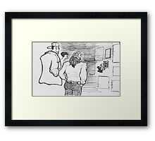 Reportage Sketch: Facets Opening Reception Twenty-Two 12-23-16 Framed Print