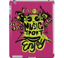 enjoy sport and music iPad Case/Skin