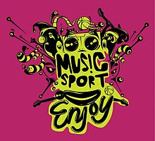 enjoy sport and music by singpentinkhepi