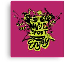 enjoy sport and music Canvas Print