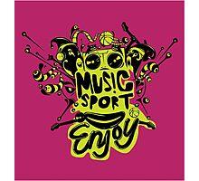 enjoy sport and music Photographic Print