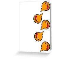 Bright Idea on White Greeting Card