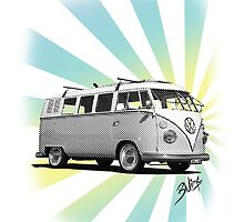 Kombi - News Print #3 by blulime