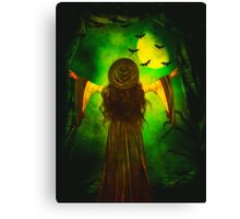 Moon of the Green Witch Canvas Print