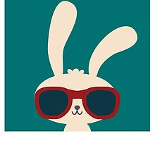 Cool easter bunny with sunglasses by berlinrob