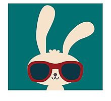 Cool easter bunny with sunglasses Photographic Print