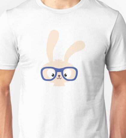 Smart easter bunny with glasses Unisex T-Shirt