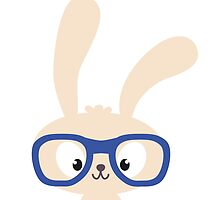 Smart easter bunny with glasses by berlinrob