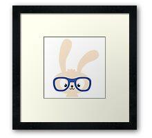 Smart easter bunny with glasses Framed Print