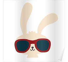 Cute easter bunny with sunglasses Poster