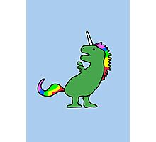 Cute Dinocorn (T-Rex Unicorn) Photographic Print