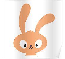 Cute cartoon rabbit with long ears Poster