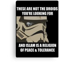 These Are Not The Droids Canvas Print