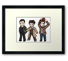 Superwholock - Doctor Who Chibis Framed Print