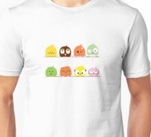 Funny cute cartoon birds Unisex T-Shirt
