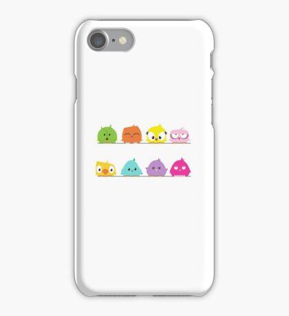Cute funny cartoon birds iPhone Case/Skin