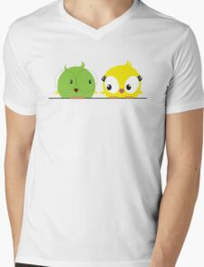 Two cute birds in love Mens V-Neck T-Shirt