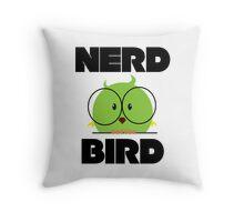 Nerd Bird with glasses Throw Pillow