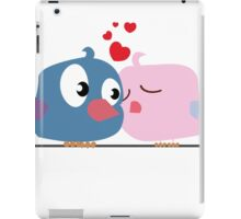 Two cartoon birds kissing iPad Case/Skin
