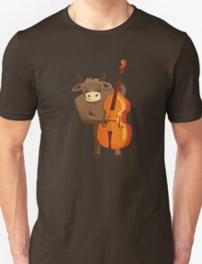 Funny ox playing music with cello T-Shirt