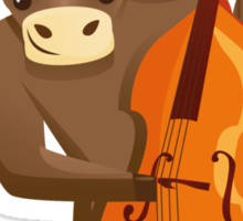 Funny ox playing music with cello Sticker