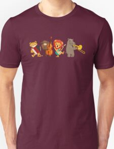 Four funny animals playing in a band Unisex T-Shirt