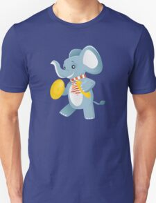 Happy elephant playing music with cymbals T-Shirt