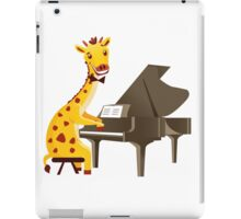 Funny giraffe playing music with grand piano iPad Case/Skin
