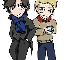 Superwholock - Sherlock Chibis by houndtails