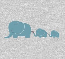 Elephant family following each other Kids Clothes