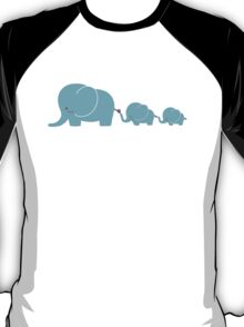 Elephant family following each other T-Shirt