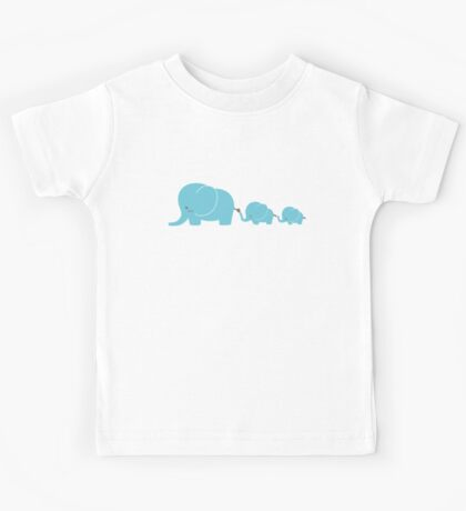 Elephant family following each other Kids Tee