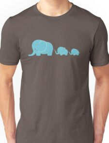 Elephant family following each other Unisex T-Shirt
