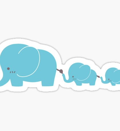 Elephant family following each other Sticker