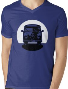 Bus In Sunset Or Moonshine Mens V-Neck T-Shirt