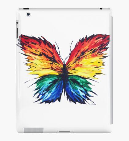 Vibrant Butterfly Colour Splash iPad Case/Skin
