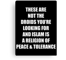 These Are Not the Droids - Text Only Canvas Print